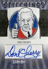 "09-10 opc premier stitchings don cherry bruins ""thumb"" patch autograph auto 2/25"