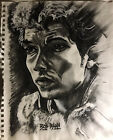 Charcoal Drawing of Bob Dylan by OUTSIDER artist Mark Robinson