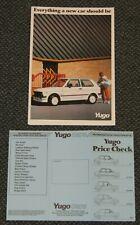Zastava Yugo 1986 UK Sales Brochure Price Check List 45A 55A GLS 311 511 513 Van
