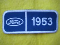 """Ford 1953  Service Dealer Uniform Hat Patch 4 """"X 1 5/8"""""""