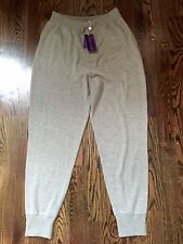 1,700$ Ralph Lauren Purple Label  100% Cashmere Sweatpants Large, Made in Italy