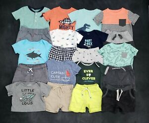 Boys 12 Months Summer Clothes Shirts Pull On Shorts Sets Outfits 20Pc. Lot!
