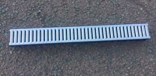 1 x Drainage Channel Galvanised  Heavy Duty 1 metre  Length Storm Drain Channel