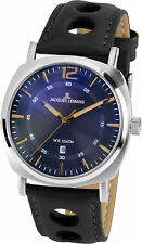Jacques Lemans Men's Watch Stainless Steel Leather Strap Quartz 1-1943K