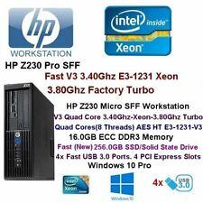 HP Z230-SFF-workstation V3-3.40Ghz/3.80Ghz V3 Xeon 16GB DDR3 256GB SSD W10-Fast