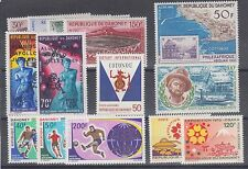 Dahomey Sc C85/C125 Mlh. 7 complete sets 1968-70 issues