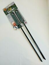 Four (4) GUY FIERI™ Black Nonstick Heavy Duty Metal BBQ Grilling Skewers - NEW