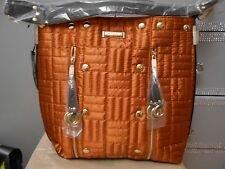 RIVER ISLAND STYLISH BURNT ORANGE PART QUILTED SHEEN  SLOUCH BAG BNWT RRP £37