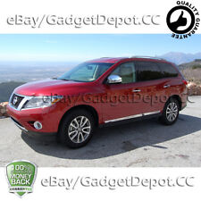 For 2013 2014 2015 Nissan Pathfinder Chrome Mirror Cover W/O Turning Lights Cut