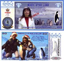 MARIE BYRD LAND 2/3 (.60) Penguino Fun-Fantasy Note 2013 Specimen Issue Penguins
