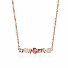 Luminous Necklace With Rose Harmonic Swarovski Crystals Rose Gold Plated