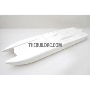 "36"" RC EP Epoxy Fiberglass Catamaran Racing Boat Hull - White"