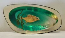 Vintage Lucite / Acrylic Paperweight with Encased Piranha Fish
