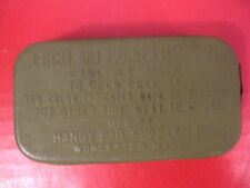WWII US Army Carlisle Bandage in Green Tin for First Aid Pouch - MINT Unissued