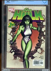 SHE-HULK #1 CBCS GRADED 9.8 WHITE PAGES 2004 AVENGERS APPEARANCE