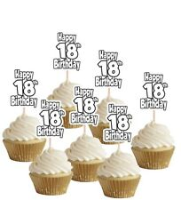 18th Birthday Number Cupcake Party Food Cake Toppers Decorations Picks (14 pack)