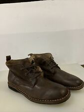 Andrew Marc Chukka Brown Leather Lace Up Ankle Boots ~  Men's Size 11
