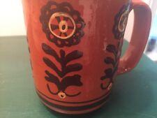 Vintage German Pottery Mochaware Slip Decorated Amish Coffee Mug Slipware