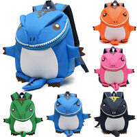 Kids Toddler Boys Girls Baby Dinosaur Backpack Rucksack Nursery Lunch School Bag