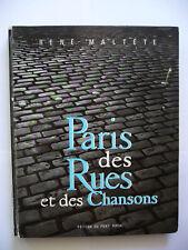 RENE MALTÊTE PARIS Des Rues et des Chansons, ill. B. Buffet, Poésie, Art, 1960