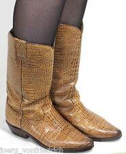 Stiefel Damenstiefel Vintage Western Boots Lederstiefel Westernstiefel Reptil 38