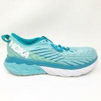 Hoka One One Womens Arahi 4 1106474 ASCS Aqua Blue Running Shoes Lace Up Sz 9