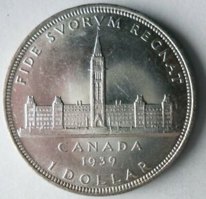 1939 CANADA DOLLAR - AU - ONE YEAR TYPE - Great Silver Coin - Lot #M1