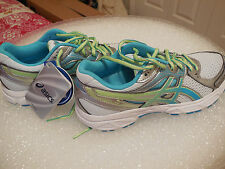 ASICS Womens Gel-Contend 2 Running Shoe,White/Turquoise/Sharp Green SIZE 6