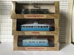 LOT DE 3 MICHELINES & Autorails train SNCF 1/87 HO PLM & NORD ma29+ma 33+ ma21