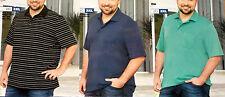 Herren POLOHEMD Poloshirt T-Shirt Große Größe 3XL 4XL 5XL schwarz/blau/grün NEU