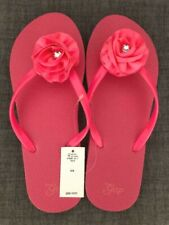 New with Tag Gap Girls Flip Flop Size 5/6 Pink with flower