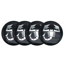 "4x 56mm 2.2"" ABARTH Wheel Cap Sticker Caps Emblem Badge Center Scorpion for FIAT"