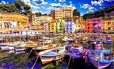 New 300 Piece Puzzlebug Puzzle Fishing Boats Marina Grande, Amalfi Coast, Italy