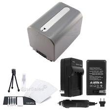 NP-FP70 Battery + Charger + BONUS for Sony DCR-DVD92 HC18 HC19 HC20 HC21 HC26