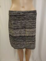 Womens Loft Outlet Skirt Gray Cotton Blend Knee Length Stretch Size M