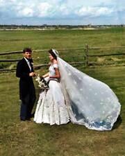 John F. Kennedy & Jacqueline Wedding Day President JFK 8x10 RARE COLOR Photo 601