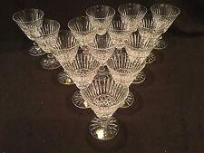 14 WATERFORD CRYSTAL WATER GOBLETS IN THE TRAMORE PATTERN