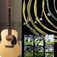 6er Set 150XL Stahl Saiten Gitarrensaiten für Akustikgitarre Westerngitarre Neu