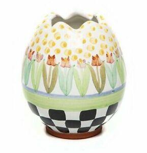 MacKenzie-Childs Tulip Garden Egg Vase
