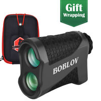BOBLOV 650 Yards Golf Range Finder 6X Magnification Flaglocking Rangefinder+Case