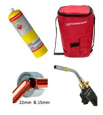 Rothenberger Hot Bag Kit Superfire 2 Torch + 15mm & 22mm Pipe Cutters + Map Gas