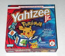 Yahtzee Jr. Pokemon Milton Bradley 1998 Dice Game
