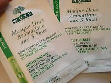 2 x individual Nuxe Gentle Purifying and Clarifying Mask with 3 Roses 4ml each