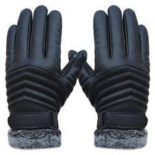 Maenner Rutschfeste Leder Handschuhe Thermische Winter Sport Screen Handschuhe