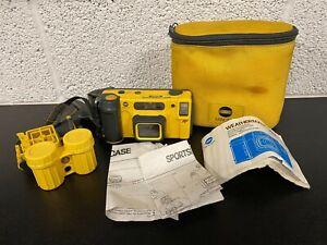 Minolta Weathermatic 35DL Underwater Camera & Accs. 35mm Autofocus Full Frame