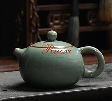 1pc Longquan Celadon Kung Fu Tea Set Small Ge Kiln Ice Crack Teapot  170cc