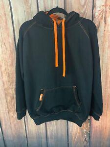 One Shot Size Large Black Hunter Orange Camo Hoodie Sweatshirt