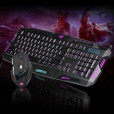 3 Colors LED Gaming Wired 2.4GHz Optical Keyboard And 5500DPI Mouse For Computer