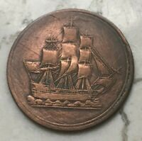 1815 Lower Canada 1/2 Half Penny Token - Cleaned
