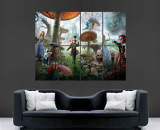 Alice au pays des merveilles poster looking glass art photo imprimé grand film film
